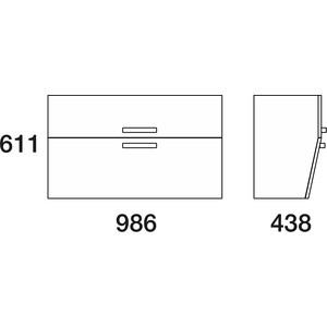 Тумба под раковину Edelform Фортэ 100, 2 ящика, для раковины Прима 1000, белый (1-725-00-PR100)  edelform concorde 100 махагон