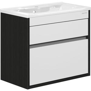 Тумба под раковину Edelform Константе 80, для раковины, Прима 800, венге с белым (1-665-14-PR80) edelform мебель для ванной edelform nota 75 белая