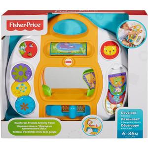 Развивающая игрушка Fisher Price Панель друзья из тропического леса (DMJ39) аппликация из песка fisher price слон 03186