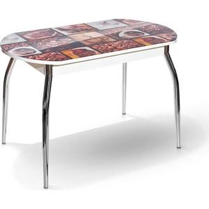 Стол МегаЭлатон Сиена-Мини белый, фотопечать №7 Кофе стол мегаэлатон сиена белый фотопечать 7 кофе