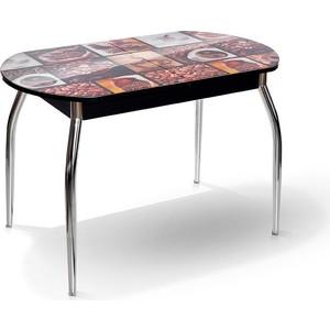 Стол МегаЭлатон Сиена-Мини черный, фотопечать №7 Кофе стол мегаэлатон сиена белый фотопечать 7 кофе