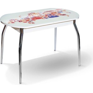 Стол МегаЭлатон Сиена-Мини белый, фотопечать стол мегаэлатон сиена белый фотопечать 7 кофе