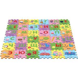 Коврики-пазлы Peppa Pig Учим азбуку с Пеппой,36 сегм. (30128) пазл origami peppa pig транспорт 4 в 1