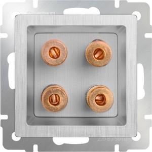 Акустическая розетка Werkel серебряная рифленая WL09-AUDIOx4 цена