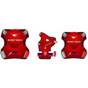 Набор защиты для роликов Joerex PR0901 красный гантели для фитнеса joerex 1 5кг jbo50509 2шт