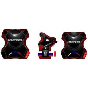 Набор защиты для роликов Joerex PR0901 черный гантели для фитнеса joerex 1 5кг jbo50509 2шт