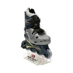 Роликовые коньки Joerex RO0603 (серебро/черный) rollerblade rollerblade коньки роликовые коньки защитное снаряжение для детей л черный xxs no