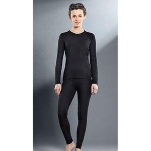 Комплект женского термобелья Guahoo рубашка и лосины (21-0291 S-BK / 21-0291 P-BK)  guahoo health warm 651p bk