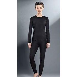 Комплект женского термобелья Guahoo рубашка и лосины (21-0401 S-BK / 21-0401 P-BK)  guahoo health warm 651p bk
