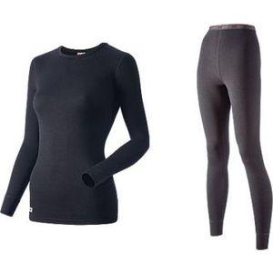 Комплект женского термобелья Guahoo рубашка и лосины (21-0461 S-BK / 21-0461 P/BK)  guahoo health warm 651p bk