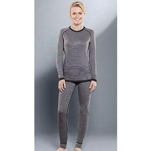 Комплект женского термобелья Guahoo рубашка и лосины (22-0411 S-MGY / 22-0411 P/MGY)