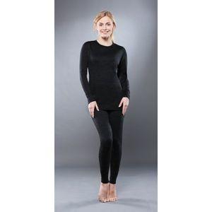 Комплект женского термобелья Guahoo рубашка и лосины (351-S/BK / 351-P/BK)
