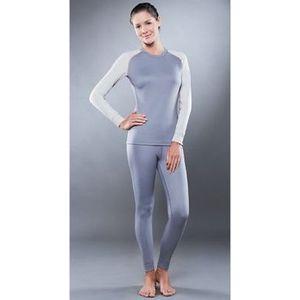 Комплект женского термобелья Guahoo рубашка и лосины (561 S-GY / 561 P-GY)