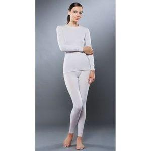Комплект женского термобелья Guahoo рубашка и лосины (611A-S/LBG / 611B-P/LBG)