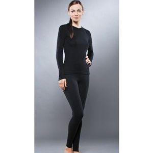 Комплект женского термобелья Guahoo рубашка и лосины (651S-BK / 651P-BK)