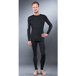 Комплект мужского термобелья Guahoo рубашка и кальсоны (21-0290 S-BK / 21-0290 P-BK)  guahoo health warm 651p bk
