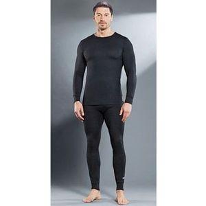 Комплект мужского термобелья Guahoo рубашка и кальсоны (21-0610 S/BK / 21-0610 P/BK)