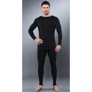 Комплект мужского термобелья Guahoo рубашка и кальсоны (350-S/BK / 350-P/BK)  guahoo health warm 651p bk
