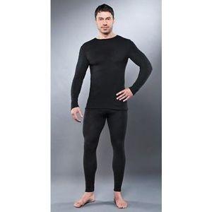 Комплект мужского термобелья Guahoo рубашка и кальсоны (670 S/BK/ 670 P/BK)