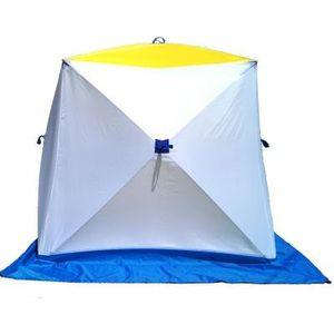 Палатка для зимней рыбалки Стэк Куб-3 двухслойная husk