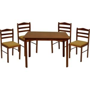 Комплект для гостинной из стола и четырех стульев Мебельторг Преферанс 3629/4729
