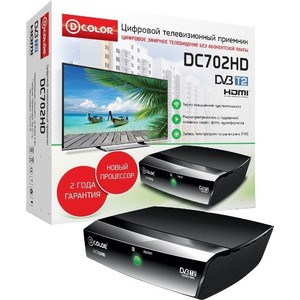 Тюнер DVB-T2 D-Color DC702HD тюнер dvb t2 d color dc700hd