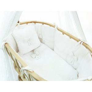 Набор Fiorellino Premium Baby (Фиореллино Премиум Беби) для колыбели Berlin белый + матрасик