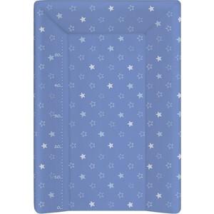 Матрас пеленальный Ceba Baby (Себа Беби) 70 см с изголовьем на кровать 120*60 см Stars dark blue W-201-066-162 матраc пеленальный ceba baby 70 см мягкий с изголовьем fox ecru w 103 059 170