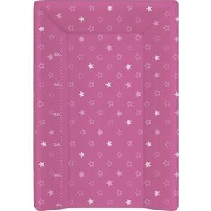 Матрас пеленальный Ceba Baby (Себа Беби) 70 см с изголовьем на кровать 120*60 см Stars dark pink W-201-066-132 full dark no stars