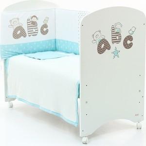 Кровать Micuna Promo ABC (Микуна Промо АБЦ) 120*60 white + бортики TX-1744 с матрацем CH-620 тепловентилятор promo pr fh211c