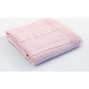 Плед Fiorellino (Фиореллино) Capelli вязаный 75*110см розовый 9215