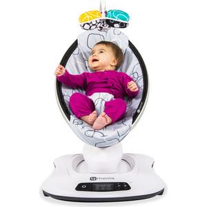 Кресло-качалка 4moms МамаРу 3.0 серый плюш