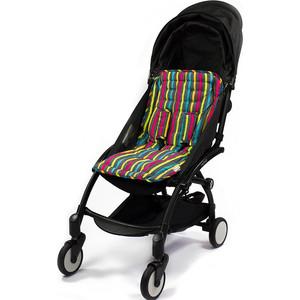 Фото - Матрасик Choopie (Чупай) для коляски с чехлами на ремни CityLiner 575/5501 Broadway Stripes ремни