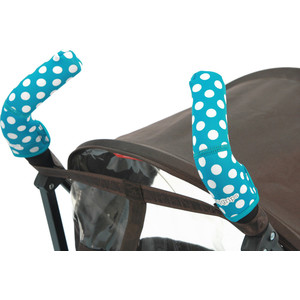 Чехлы Choopie CityGrips (Сити Грипс) на ручки для коляски-трости 369/4202 polka-dot aqua цена