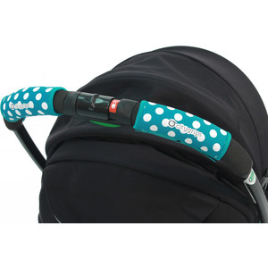 Чехлы Choopie CityGrips (Сити Грипс) на ручку для универсальной коляски 370/4219 polka-dot aqua plus polka dot self belted surplice wrap asymmetrical ruffle dress