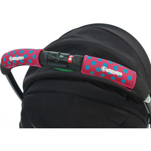 Чехлы Choopie CityGrips (Сити Грипс) на ручку для универсальной коляски 372/4196 polka-dot pink stylish polka dot and irregular stripe pattern fringed edge scarf for women
