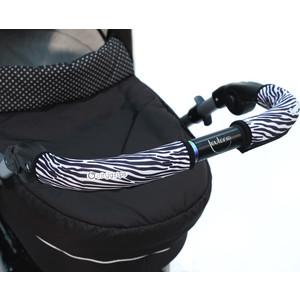 Чехлы Choopie CityGrips (Сити Грипс) на ручку для универсальной коляски длинные 510/9334 Zebra чехлы choopie citygrips сити грипс на ручку для универсальной коляски 370 4219 polka dot aqua