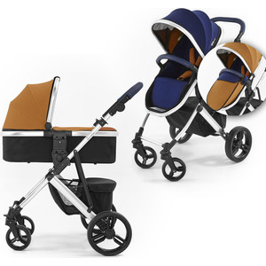 Коляска 2 в 1 Tutti Bambini Riviera (Тутти Бамбини Ривьера) шасси Silver цвет Midnight Blue/Tan 411010/411015/AL/BT new list star dark tan black blyth nude doll diy makeup blue long hair princess dolls toys girls gifts