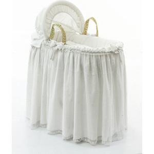 Корзина Fiorellino Premium Baby (Фиореллино Премиум Беби) плетеная с капюшоном белый абажур fiorellino premium baby фиореллино премиум беби крем