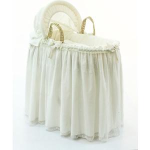 Фотография товара корзина Fiorellino Premium Baby (Фиореллино Премиум Беби) плетеная с капюшоном крем (589180)
