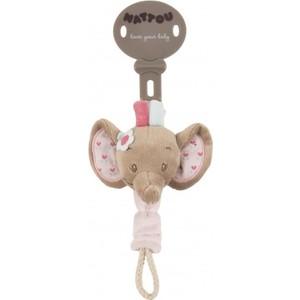 Игрушка мягкая Nattou Держатель соски Pacifinder (Наттоу) Charlotte & Rose Слоник 655163