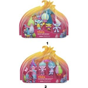 Игровой набор Hasbro Trolls - 4 героя hasbro play doh игровой набор из 3 цветов цвета в ассортименте с 2 лет