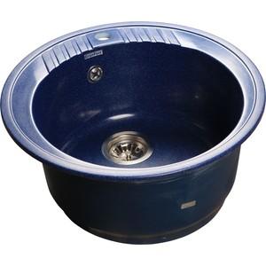где купить Мойка кухонная GranFest гранит D520 (Gf-R520 синяя) по лучшей цене