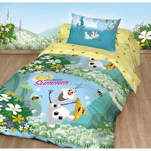 Детское постельное белье Disney Холодное Сердце. Олаф Лето с наволочкой 50x70 (180870) твой стиль детское постельное белье 1 5 сп твой стиль disney очаровательная мари