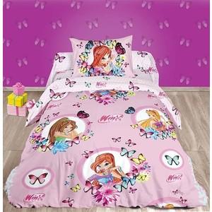 Детское постельное белье Winx Бабочки с наволочкой 70x70 (183459)