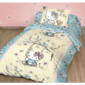 Детское постельное белье Hello Kitty Китти Качели с наволочкой 70x70 (198165)