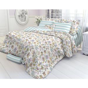 Комплект постельного белья Verossa Constante 1,5 сп, перкаль, Virgin голубой с наволочками 50x70 (195374)