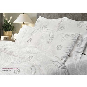 где купить Комплект постельного белья Verossa Constante 1,5 сп, страйп, Серебряный вальс с наволочками 50x70 (192181/178960) по лучшей цене