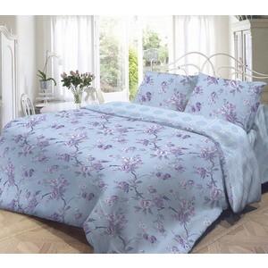 Комплект постельного белья Нежность Евро, поплин Сиреневое с наволочками 70x70 (701658)