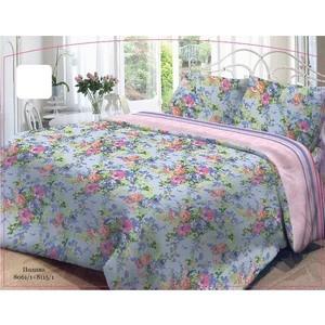 Комплект постельного белья Нежность Евро, поплин Полина с наволочками 70x70 (701899)